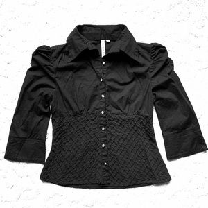 Gothic Fitted top w Crystal Buttons